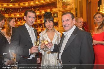 Opernball 2019 - Das Fest - Wiener Staatsoper - Do 28.02.2019 - Gerhard SCHRÖDER, Kim SO-YEON, Sebastian KURZ166