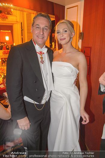 Opernball 2019 - Das Fest - Wiener Staatsoper - Do 28.02.2019 - Heinz Christian HC und Philippa STRACHE175