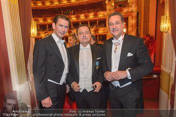 Opernball 2019 - Das Fest - Wiener Staatsoper - Do 28.02.2019 - Sebastian KURZ, Ivica DACIC, Heinz Christian HC STRACHE194