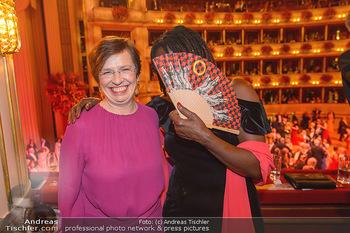 Opernball 2019 - Das Fest - Wiener Staatsoper - Do 28.02.2019 - Auma OBAMA, Doris SCHMIDAUER203