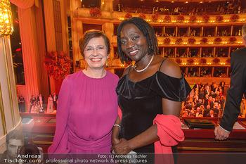 Opernball 2019 - Das Fest - Wiener Staatsoper - Do 28.02.2019 - Auma OBAMA, Doris SCHMIDAUER204