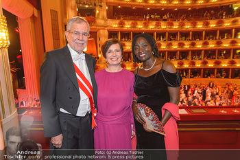 Opernball 2019 - Das Fest - Wiener Staatsoper - Do 28.02.2019 - Auma OBAMA, Doris SCHMIDAUER, Alexander VAN DER BELLEN207