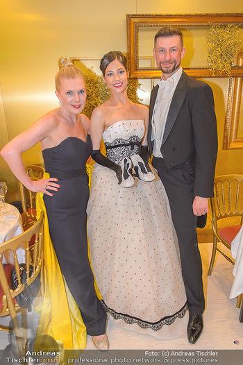 Opernball 2019 - Das Fest - Wiener Staatsoper - Do 28.02.2019 - Maria YAKOVLEVA, Liane SEITZ, Andreas BAMESBERGER219