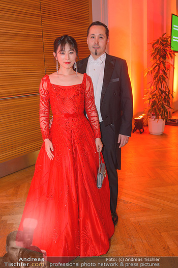 Juristenball - Hofburg Wien - So 03.03.2019 - Alexander Taiyo SCHEUWIMMER mit Ehefrau Jiayin WANG27