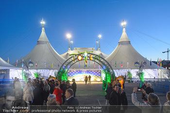Cirque du Soleil - Zirkuszelt Neu Marx, Wien - Di 12.03.2019 - Cirque du Soleil Zirkuszelt im Abendhimmel1