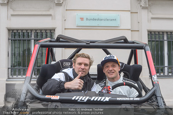 Masters of Dirt meets Bundeskanzler Sebastian Kurz - Bundeskanzleramt, Ballhausplatz, Wien - Do 14.03.2019 - Georg FECHTER, Gerhard MAYR8
