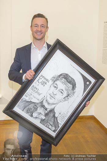 Ausstellungseröffnung Wien um 1900 - Leopold Museum - Fr 15.03.2019 - Gernot BLÜMEL mit seinem Selbstportrait32