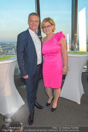 Spusu office Erweiterung - DC Tower 1 Wien - Do 21.03.2019 - Franz PICHLER mit Ehefrau Andrea6