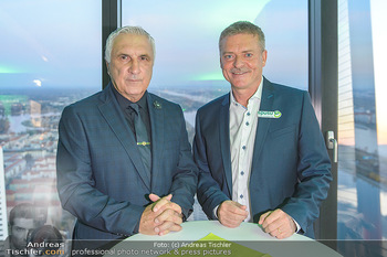Spusu office Erweiterung - DC Tower 1 Wien - Do 21.03.2019 - Hans KRANKL mit Sohn Johann15