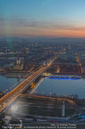 Spusu office Erweiterung - DC Tower 1 Wien - Do 21.03.2019 - Ausblick vom 39. Stock des DC Tower 1 über Wien bei Sonnenunter27