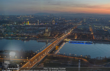 Spusu office Erweiterung - DC Tower 1 Wien - Do 21.03.2019 - Ausblick vom 39. Stock des DC Tower 1 über Wien bei Sonnenunter28