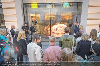 Swarovski Kunstinstallation - Swarovski Store Wien - Mo 08.04.2019 - Menschen bewundern Kunstwerk in der Auslage37