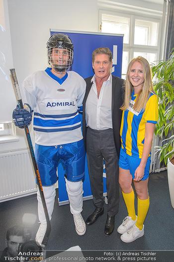 David Hasselhoff für Admiral PK - Novomatic Forum, Wien - Di 09.04.2019 - David HASSELHOFF mit Spielern49