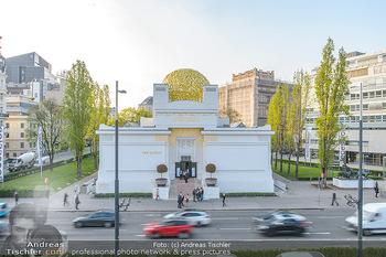 David Hasselhoff für Admiral PK - Novomatic Forum, Wien - Di 09.04.2019 - Secession Wien, goldene Kuppel58