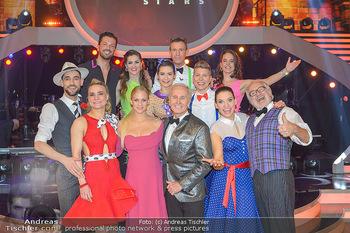 Dancing Stars - ORF Zentrum - Fr 12.04.2019 - Gruppenfoto verbliebene Dancing Stars mit Moderatorien Mirjam WE1