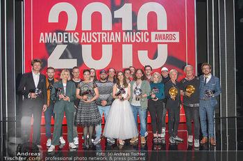Amadeus Austria Music Awards 2019 - Volkstheater Wien - Do 25.04.2019 - Siegerfoto, Gruppenfoto Awardgewinner 2019309