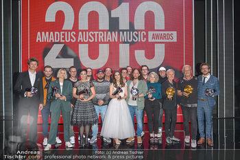 Amadeus Austria Music Awards 2019 - Volkstheater Wien - Do 25.04.2019 - Siegerfoto, Gruppenfoto Awardgewinner 2019310