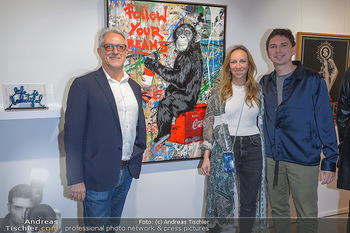 Opening - Galerie Gerald Hartinger - Do 16.05.2019 - Familie Gerald HARTINGER mit Tochter Lena und Sohn Julian HEIDRI2