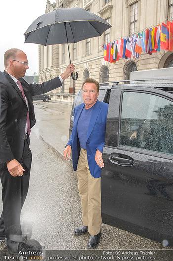 Schwarzenegger für SodaStream - Hofburg Wien - So 26.05.2019 - Arnold SCHWARZENEGGER kommt an (Ankunft)34