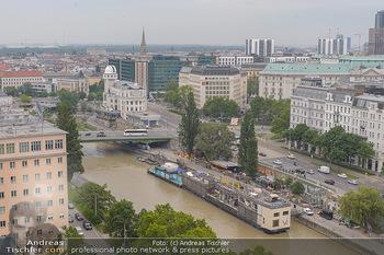 Juul Launchevent - Heuer und Das Dach, Wien - Mo 27.05.2019 - Blick über Wien Richtung Urania, Wienkanal100