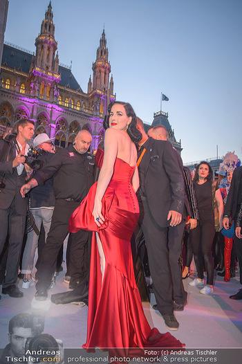 Lifeball red carpet - Rathaus Wien - Sa 08.06.2019 - Dita VON TEESE108