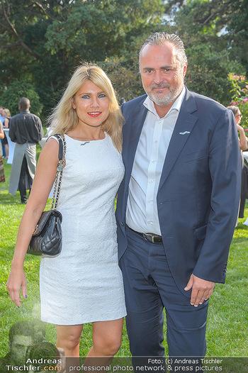 Esterhazy Künstlerfest - Palais Schönburg, Wien - Mi 12.06.2019 - Hans Peter DOSKOZIL mit Freundin Julia15