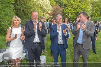 Esterhazy Künstlerfest - Palais Schönburg, Wien - Mi 12.06.2019 - Hans Peter DOSKOZIL mit Freundin Julia, Alexander WRABETZ, Stefa88