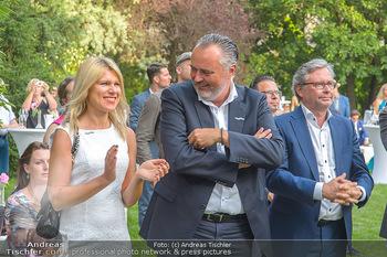 Esterhazy Künstlerfest - Palais Schönburg, Wien - Mi 12.06.2019 - Hans Peter DOSKOZIL mit Freundin Julia, Alexander WRABETZ95