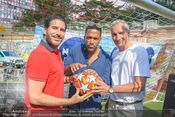 Nivea Deep Soccer Challenge - Hermann´s Strandbar, Wien - Mi 19.06.2019 - Clemens UNTERREINER, Cesar SAMPSON, Rainer PARIASEK2