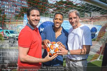 Nivea Deep Soccer Challenge - Hermann´s Strandbar, Wien - Mi 19.06.2019 - Clemens UNTERREINER, Cesar SAMPSON, Rainer PARIASEK3