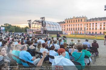 Sommernachtskonzert 2019 - Schloss Schönbrunn - Do 20.06.2019 - Publikum vor dem Schloss Schönbrunn47