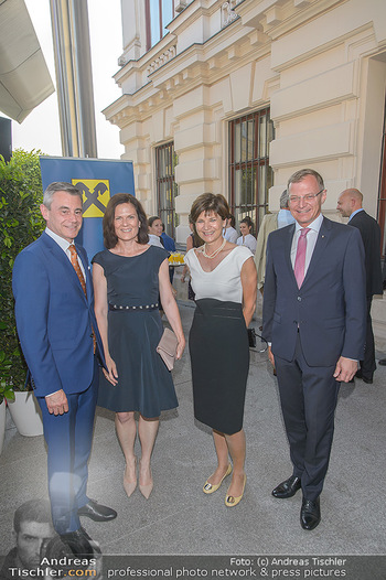 Sommerfest der RLB Oberösterreich - Albertina, Wien - Di 25.06.2019 - Heinrich SCHALLER, Michaela KEPLINGER-MITTERLEHNER, Thomas und B3