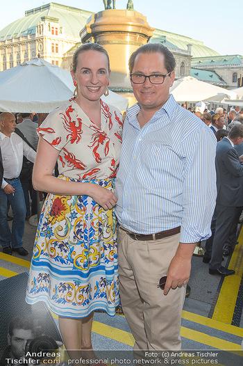 Sommerfest der RLB Oberösterreich - Albertina, Wien - Di 25.06.2019 - Maria und Andreas GROßBAUER (GROSSBAUER)41