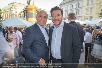 Sommerfest der RLB Oberösterreich - Albertina, Wien - Di 25.06.2019 - Wolfgang SOBOTKA, Rene BENKO49