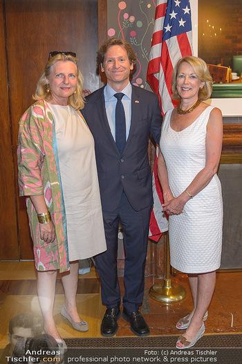 Independence Day Party - Residenz der US-Botschaft, Wien - Mi 26.06.2019 - Karin KNEISSL, Trevor D. TRAINA, Jackie WALCOTT7