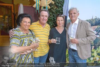 Heurigen-Treff mit Mikl-Leitner - Weingut Johanneshof Reinisch, Tattendorf - Do 27.06.2019 - Rudolf und Agi BUCHBINDER, Barbara STÖCKL mit Ehemann Fritz RIF26