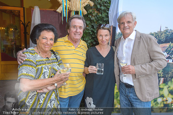 Heurigen-Treff mit Mikl-Leitner - Weingut Johanneshof Reinisch, Tattendorf - Do 27.06.2019 - Rudolf und Agi BUCHBINDER, Barbara STÖCKL mit Ehemann Fritz RIF27
