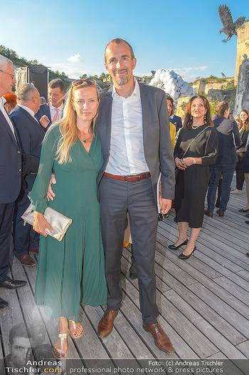 Die Zauberflöte Premiere - Oper im Steinbruch St. Margarethen - Mi 10.07.2019 - Juliane BOGNER-STRAUß mit Ehemann Erik55