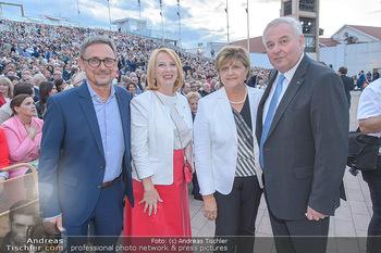Das Land des Lächelns Premiere - Seefestspiele Mörbisch - Do 11.07.2019 - Hermann SCHÜTZENHÖFER mit Ehefrau Marianne, Doris BURES76