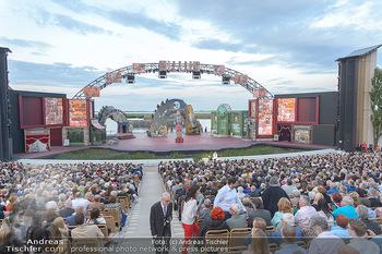 Das Land des Lächelns Premiere - Seefestspiele Mörbisch - Do 11.07.2019 - Seebühne, Bühnenfoto, Kulisse, Bühnenbild, Publikum, Zuschaue84