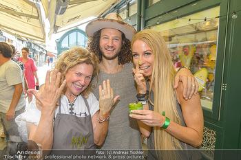 Kiehl´s Avocado Creme Präsentation - Neni am Naschmarkt, Wien - Mi 31.07.2019 - Haya MOLCHO mit Sohn Nuriel, Yvonne RUEFF1