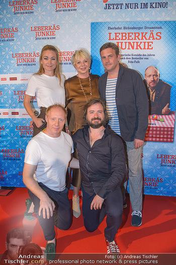 Kinopremiere ´Leberkäsjunkie´ - Cineplexx Donauplex - Do 01.08.2019 - Gruppenfoto Cast Simon SCHWARZ, Sebastian BEZZEL, Lisa Maria POT21