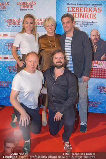 Kinopremiere ´Leberkäsjunkie´ - Cineplexx Donauplex - Do 01.08.2019 - Gruppenfoto Cast Simon SCHWARZ, Sebastian BEZZEL, Lisa Maria POT22