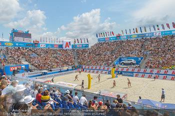 Beachvolleyball - Donauinsel Wien - Sa 03.08.2019 - Spielfeld, Center Court, Tribünen, Publikum, Zuschauerränge1