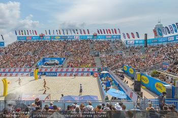 Beachvolleyball - Donauinsel Wien - Sa 03.08.2019 - Spielfeld, Center Court, Tribünen, Publikum, Zuschauerränge6