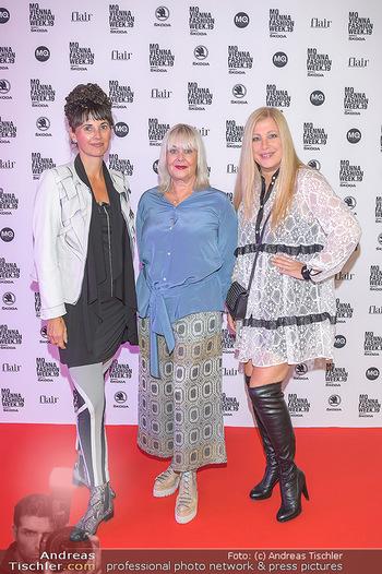 Fashion Week Opening - MQ Museumsquartier, Wien - Mo 09.09.2019 - Elvyra GEYER, Zigi MÜLLER-MATYAS und Maria OBERFRANK2