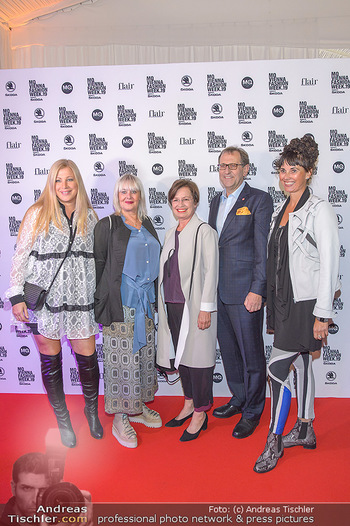 Fashion Week Opening - MQ Museumsquartier, Wien - Mo 09.09.2019 - Elvyra GEYER, Zigi MÜLLER-MATYAS und Maria OBERFRANK, Christian22