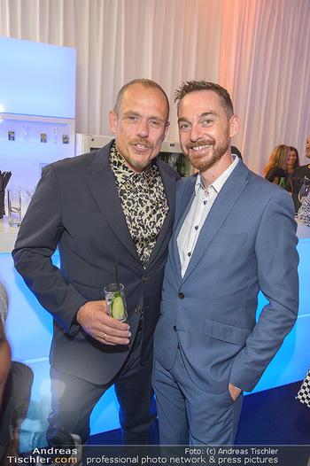 Fashion Week Opening - MQ Museumsquartier, Wien - Mo 09.09.2019 - Gery KESZLER mit Freund Miha VEBERIC53