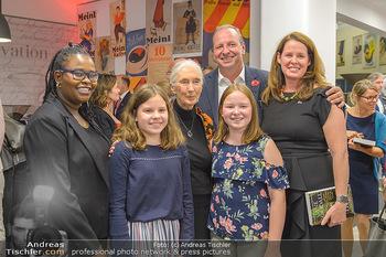 Jane Goodall Speech - Meinl´s Rösthalle - Di 10.09.2019 - Franz X. BRUNNER mit Ehefrau und Kindern, Hope WANEKE48