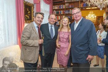 Privatempfang für Franz Patay - Privatwohnung Sarata - Mo 16.09.2019 - Christoph WAGNER-TRENKWITZ, Franz und Bettina PATAY, Wolfgang FI24